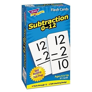Trend Enterprises® Skill Drill Flash Cards, Subtraction 0 - 12