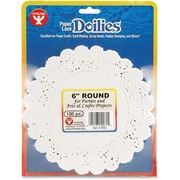 Hygloss® Round Paper Lace Doilies, P - 12, 6""