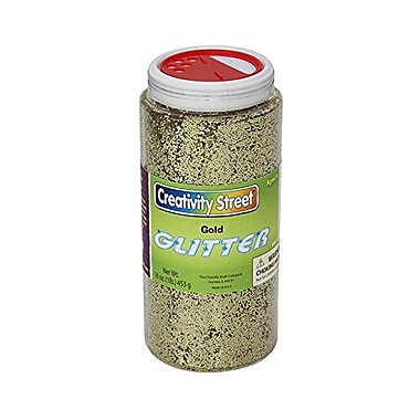 Chenille Craft® Gold Glitter Shaker Jar, 1 lbs.