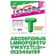 "Trend Enterprises® 3D Casual Ready Letter, 4"", Green"