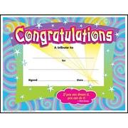 """Trend Enterprises® Spirals Congratulations Certificate,8 1/2""""(L) x 11""""(W)"""