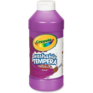 Crayola Artista ll Non-toxic 16 oz. Tempera Paint, Violet (BIN311540)