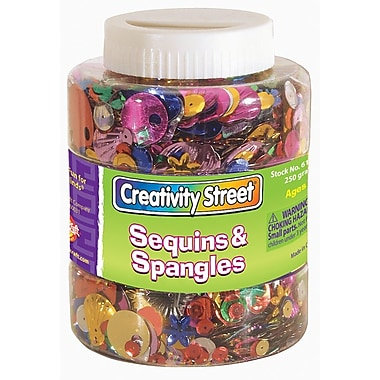 Chenille Craft® Assorted Sequins and Spangles Shaker Jar, 8 oz.