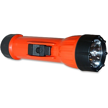 Worksafe™ 2 D Alkaline Orange Polypropylene Handheld Flashlight With 3 Way Switch, PR-2