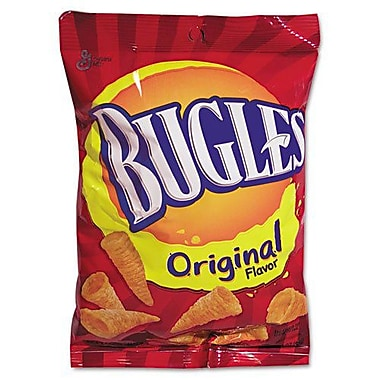Bugles Corn Snacks, 3 oz., 6 Bags/Box