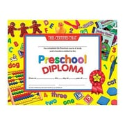 "Hayes® Yellow Border pre-school Diploma Certificate, 8 1/2""(L) x 11""(W)"