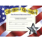 "Hayes® White Border Citizenship Certificate, 8 1/2""(L) x 11""(W)"