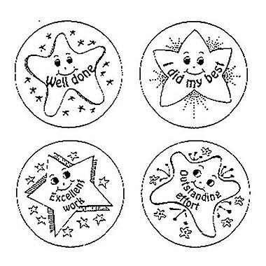 Center Enterprises® Incentive Self-Inking Jumbo Stampers, Desk Caddy