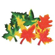 "Roylco® 9"" x 7"" Color Diffusing Craft Paper, Leaves Shape"