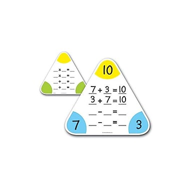 Learning Resources® Write and Wipe Fact Family Board, 5/Set