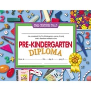 "Hayes® Assorted Border pre-kindergarten Diploma Certificate, 8 1/2""(L) x 11""(W)"