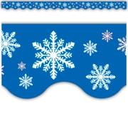 Teacher Created Resources® Infant - 12th Grades Scalloped Bulletin Board Border Trim, Snowflakes