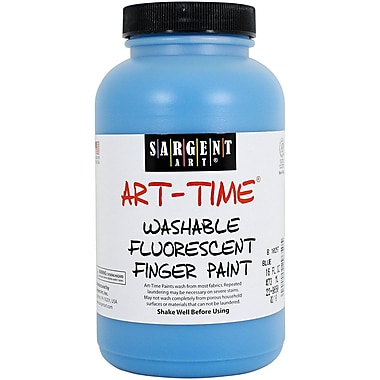Sargent Art® Art-Time® 16 oz. Washable Finger Paint, Blue