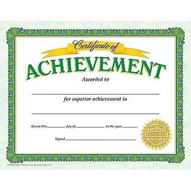 Trend Enterprises® Certificate of Achievement, 8 1/2