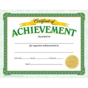 "Trend Enterprises® Certificate of Achievement, 8 1/2""(L) x 11""(W), Grades 2nd - 9th"