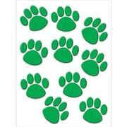 "Teacher Created Resources TCR4387 6"" DieCut Paw Prints Accents, Green"