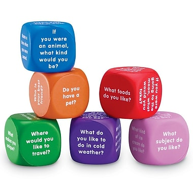 Learning Resources® Conversation Cubes, Grades 1st and Above