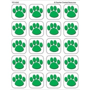 Teacher Created Resources® Stickers, Green Paw Prints