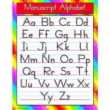 Trend Enterprises® Manuscript Alphabet (Zaner-Bloser) Learning Chart