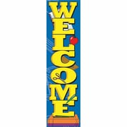 "Eureka Toddler EU-849518 45"" x 12"" Straight Welcome Vertical Banner, Multicolor"