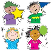 "Creative Teaching Press 6"" Designer Cut-Outs Variety Pack, Stick Kid's"