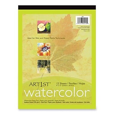 Pacon® Art1st® White Watercolor Pad, 14