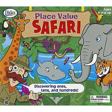 Didax® Place Value Safari Game, Grades 2nd - 5th