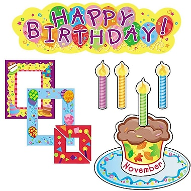 Creative Teaching Press Mini Bulletin Board Set, Birthdays