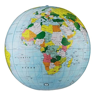 Replogle Globe® Political Inflate-A-Globe, Light Blue, 16