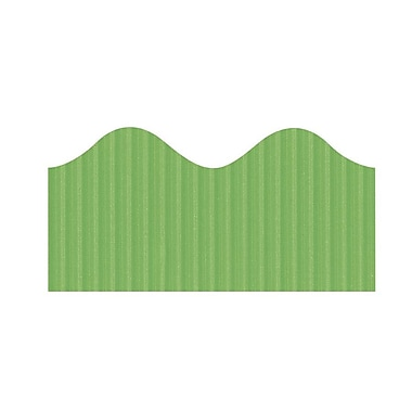 Pacon® Bordette® pre-school - 12th Grades Scalloped Decorative Border, Nile Green
