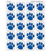 Teacher Created Resources® Stickers, Blue Paw Prints