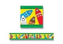 TREND T-85041 35.75' x 2.75' Straight Colorful Crayons Bolder Border, Multicolor