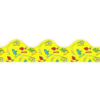 Eureka® Dr. Seuss™ pre-school - 8th Grades Scalloped Deco Trim, One Fish Two Fish