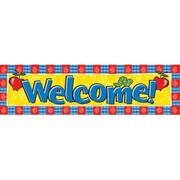 "Eureka Toddler EU-849450 45"" x 12"" Straight Welcome Classroom Banner, Multicolor"