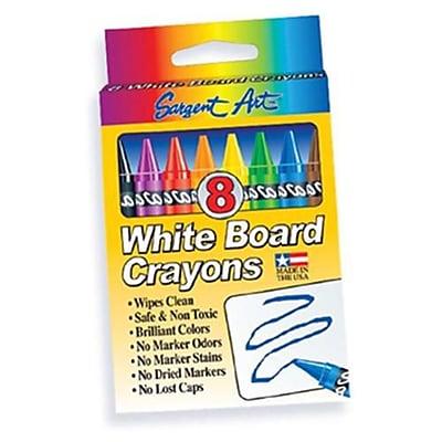 Sargent Art Large Whiteboard Crayon, 8/Box 882845