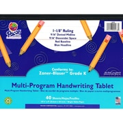 Pacon® Zaner-Bloser™ ™ Multi-Program Handwriting Tablet Paper, Grades Kindergarten