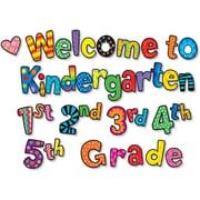 Creative Teaching Press Poppin Patterns® Mini Bulletin Board Set, Welcome To Kindergarten