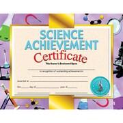 "Hayes® Science Achievement Certificate, 8 1/2""(L) x 11""(W)"