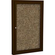 Best-Rite Enclosed Rubber Tak Bulletin Board, Coffee Finish Frame, 2' x 3'