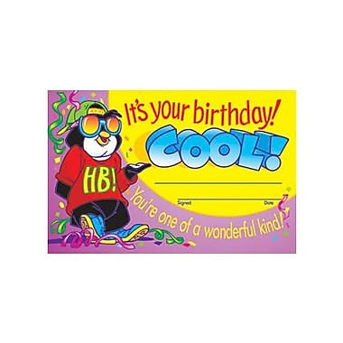 Trend Enterprises® It's Your Birthday! Cool! Certificate, 5 1/2