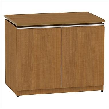 Bush Business Milano2 36W Storage Cabinet, Golden Anigre, Installed