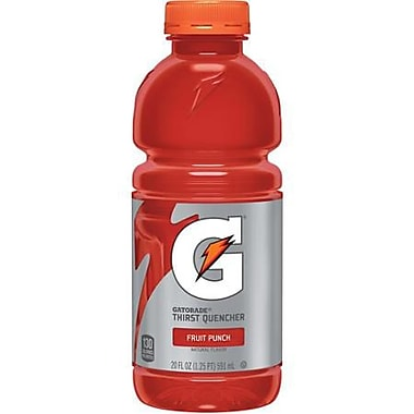 Gatorade® Fruit Punch, 20 oz. Bottles, 24/Case