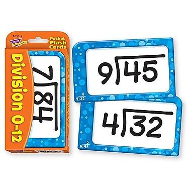 Trend Enterprises® Pocket Flash Cards, Division 0 - 12