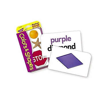 Trend Enterprises® Colors and Shapes Pocket Flash Cards, Grades pre-kindergarten - 2nd