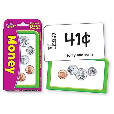 Trend Enterprises® Pocket Flash Cards, Money