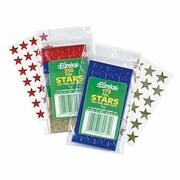 """Eureka® 1/2"""" Stars Stickers, Red Foil"""