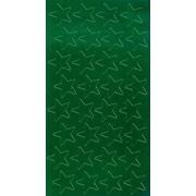 """Eureka® 1/2"""" Stars Stickers, Green Foil"""