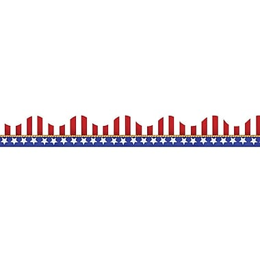 Eureka® Pre School - 12th Grades Scalloped Deco Trim, American Flags Electoral