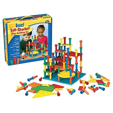 Lauri® Toys Tall Stacker™ Pegs and Building Set