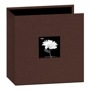 "Pioneer Fabric 3-Ring Binder Album With Window, 12"" x 12"", Brown"